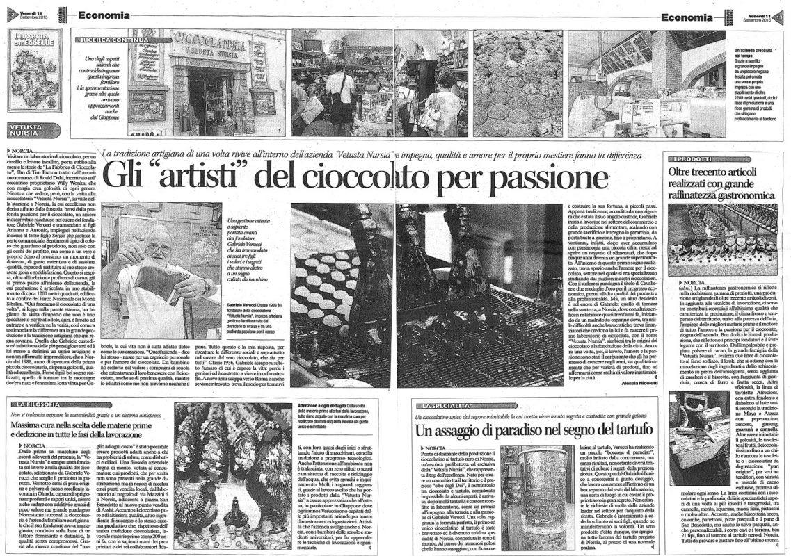 Corriere dell'Umbria 11 settembre 2015